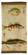 Fish Trio-c-green Beach Towel