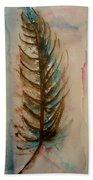 Fishbone Or Feather Beach Towel