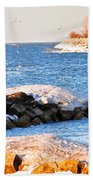 Fishermans Cove Beach Towel