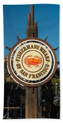 Fisherman's Wharf Sign Beach Towel