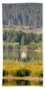 Fishing At George Town Lake Beach Towel