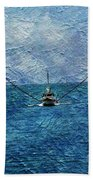 Fishing Boat As A Painting 2 Beach Towel