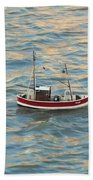 Fishing Boat Jean Beach Towel