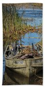 Opening Day Hunting Boat Beach Towel