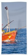 Fishing Boat  Sri Lanka Beach Towel