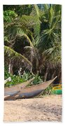 Fishing Boats B Mirissa Beach Beach Towel