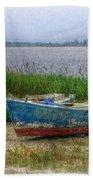 Fishing Boats Beach Towel