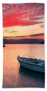 fishing boats 'II Beach Towel