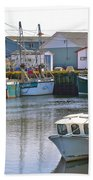 Fishing Boats In Branch-nl Beach Towel