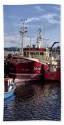Fishing Boats In Killybegs Donegal Ireland Beach Towel