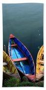 Fishing Boats - Nepal Beach Towel