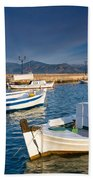 fishing boats 'XIII Beach Towel