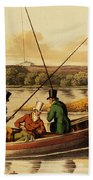 Fishing In A Punt Beach Towel