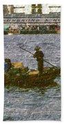 Fishing In Hong Kong Vintage  Beach Towel
