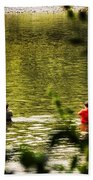 Fishing In The Pond Beach Towel