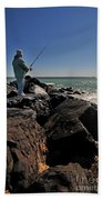Fishing Off The Jetty Beach Towel