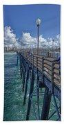 Fishing On Oceanside Pier Beach Towel