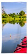 Fishing On The Lake Beach Towel