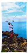 Fishing Paradise Beach Sheet