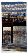 Fishing Pier Sunset  Beach Towel
