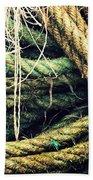 Fishing Rope Textures Beach Towel