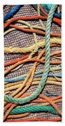 Fishing Ropes And Net Beach Towel