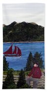 Fishing Schooner Beach Towel by Barbara Griffin