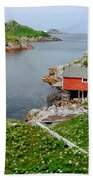 Fishing Stage Little Fogo Island Newfoundland Beach Towel