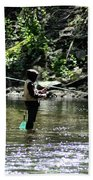 Fishing The Wissahickon Beach Towel