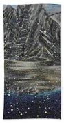 Fishing Village In  Winter Beach Towel