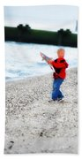 Fishing With Dad - Catch And Release Beach Towel