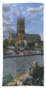 Fishing With Oscar - Doncaster Minster Beach Towel