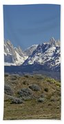 Fitz Roy Range In Springtime 2 Beach Towel