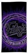 Fitz's In Purple Neon Beach Towel