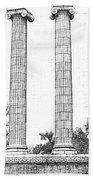Five Columns Sketchy Beach Sheet