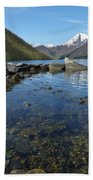 Fjord To The Sky Beach Towel