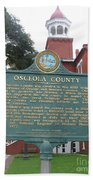 Fl-f304 Osceola County Beach Towel