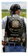 Fla Post 4143 Vfw Rider Color Usa Beach Towel