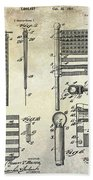 1927 Flag Spreader Patent Drawing Beach Towel