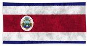 Flag Of Costa Rica Beach Towel