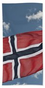 Flag Of Norway Beach Towel