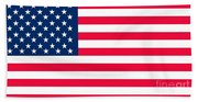 Flag Of The United States Of America Beach Towel