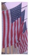 Flags At Cape May Nj Beach Towel