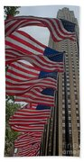 Flags At Rokefeller Plaza Beach Towel