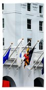 Flags At The Greenbrier Beach Towel