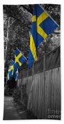 Flags Of Sweden Beach Towel