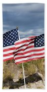 Flags On Antelope Island Beach Towel