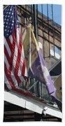 Flags On Bourbon Street Beach Towel