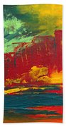 Flame In The Night Beach Towel