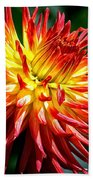 Flame Tips Beach Towel